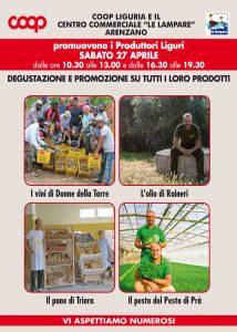 27 aprile Degustazione e promozione produttori liguri